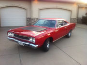 1968 Plymouth Road Runner Red w Silver Interior